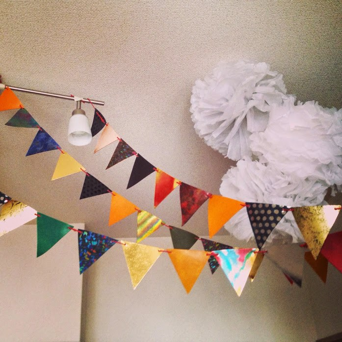 1歳の誕生日のときの飾り付け