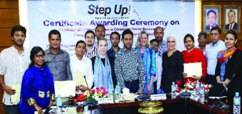 Trainees Awarded Certificates Under Step Up Project
