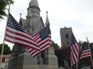 The Monument on Memorial Day.