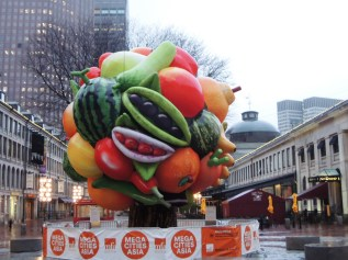 While not on the tour, I enjoyed the whimsy of the giant, inflatable fruit tree at Faneuil Hall Marketplace
