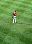Nationals' star Bryce Harper also played in front of us in right field.