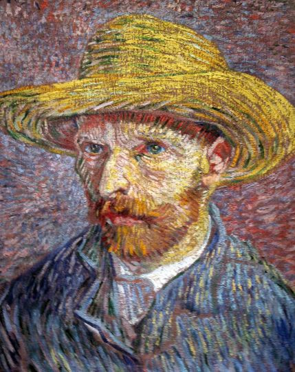 Vincent Van Gogh, Self Portrait with Straw Hat, 1887