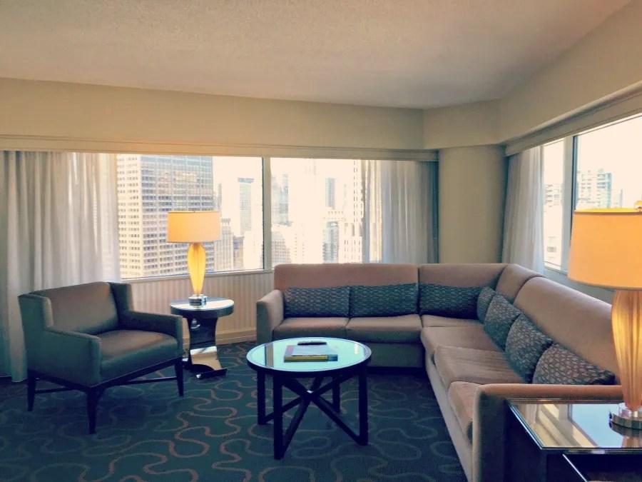Swissotel Chicago Sitting Room View