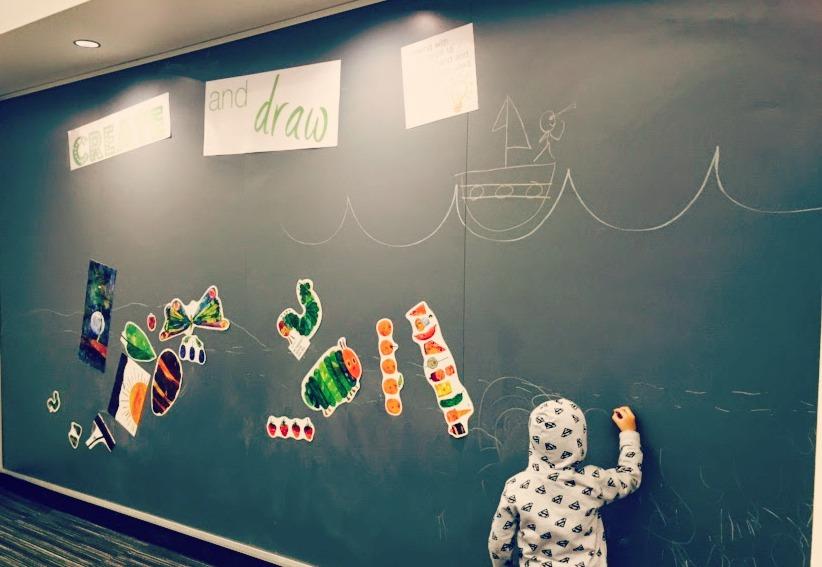 Barrington Area Library Chalkboard Magnetic Wall