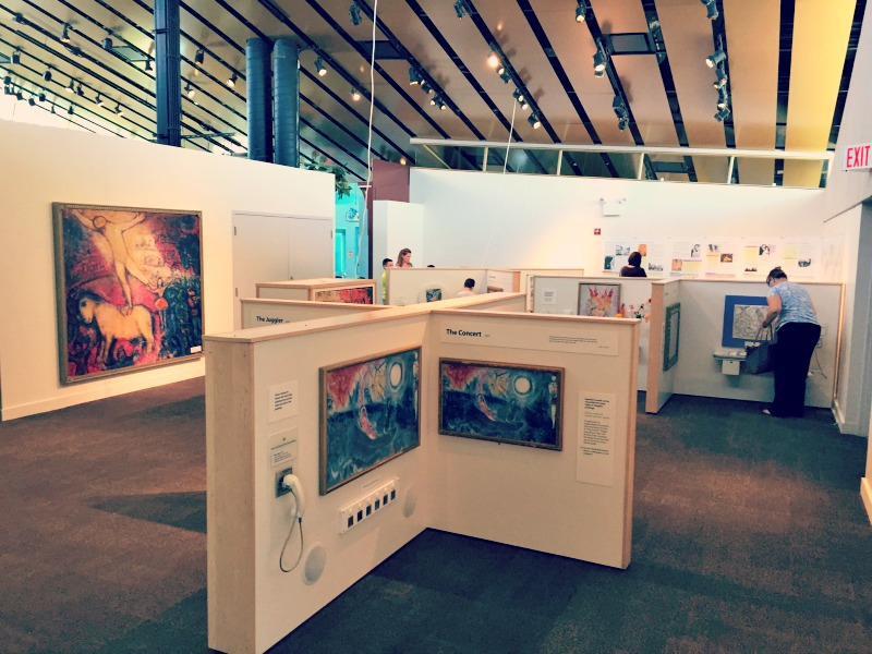 Kohl Childrens Museum Chagall for Kids Art Exhibit Overview
