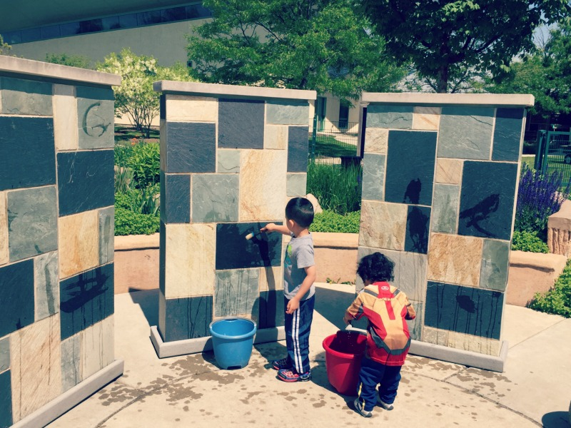 Kohl Childrens Museum Habitat Park Painting with Water