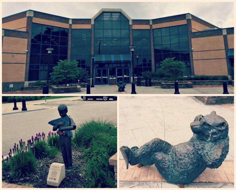 Jack A Claes Pavilion Exterior and Statues