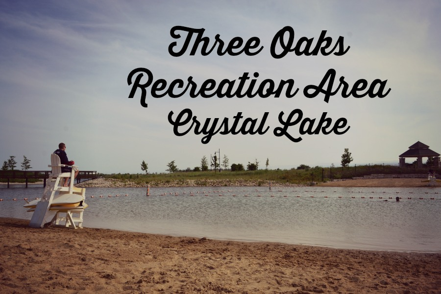 Three Oaks Recreation Area in Crystal Lake has a beach