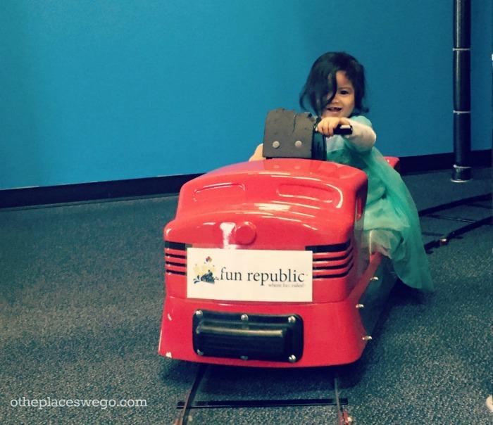 Ride a train at Fun Republic St. Charles Illinois