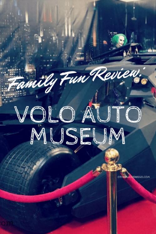 Family Fun including the Batmobile, Tumbler, and the Deloreanat the Volo Auto Museum in Volo, Illinois