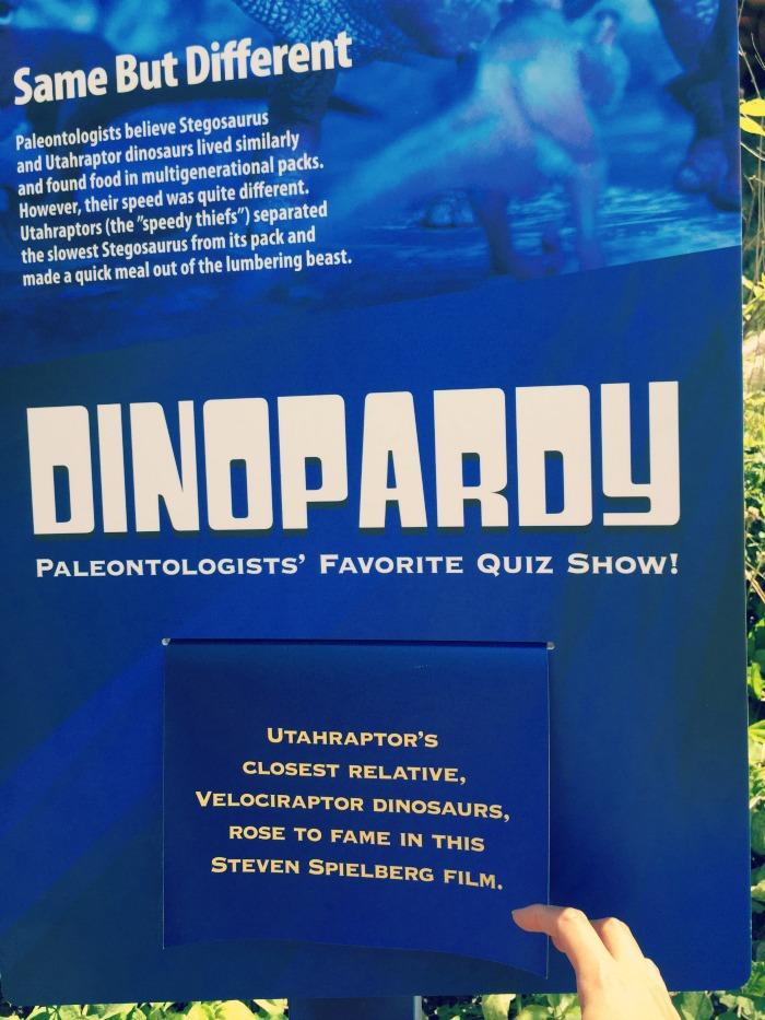 Brookfield Zoo Dinosaurs - Dino Trivia
