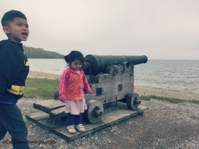 Biking Mackinac Island - British Landing Cannon