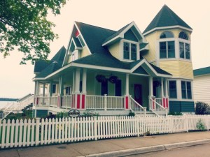 Biking Mackinac Island - More Colorful Homes