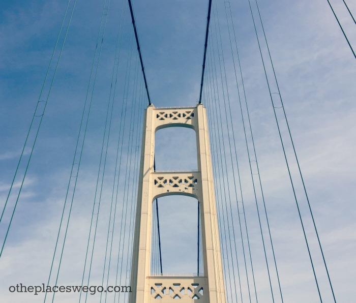 Crossing the Mackinac Bridge - Up Close