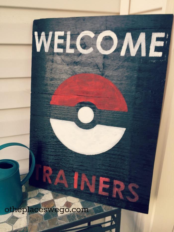 Pokemon Birthday Party - Pokemon Trainer Sign