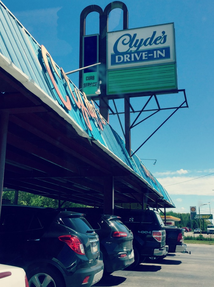 Road to Ludington Michigan - Clydes Drivein