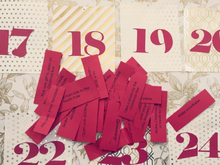 How to make an activity advent calendar and more than 25 ideas for activities