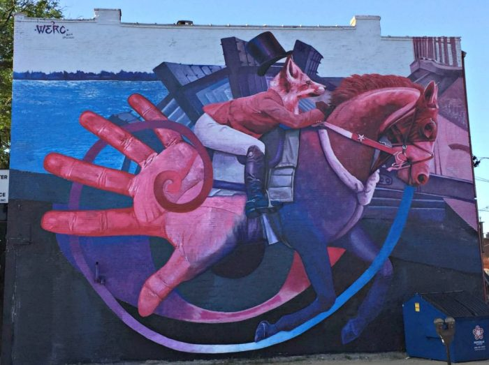 Amazing street art in Dubuque, Iowa.