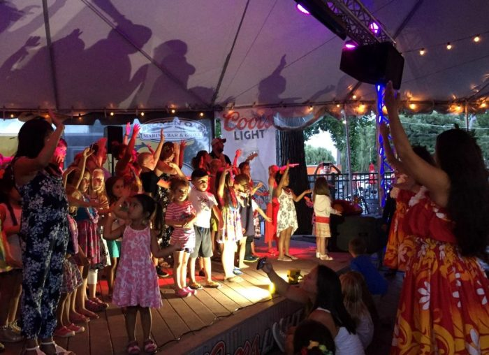 Family Fun at Broken Oar's Luau Wednesdays Sunset Party
