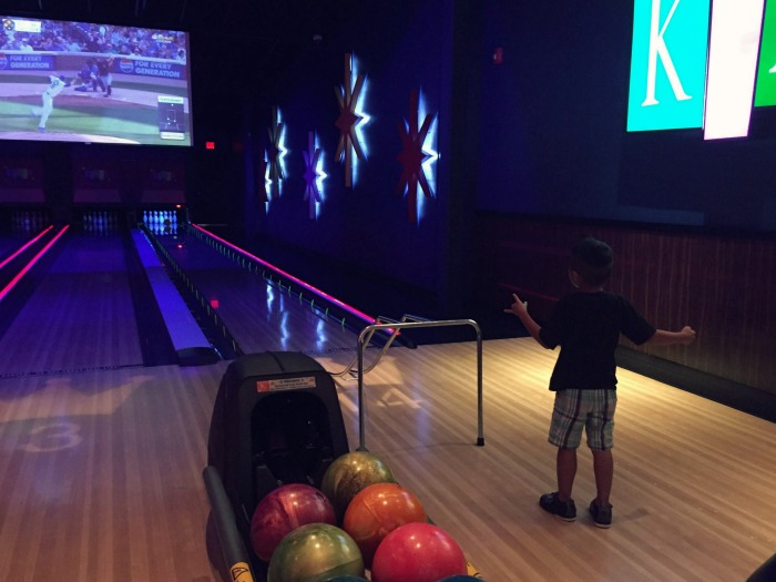 Family fun at Kings Bowl in Rosemont including fun bowling, delicious scratch food, and insane desserts.