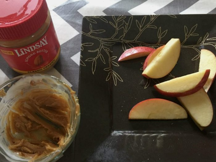 Easy after school snacks made with Lindsay Almond Butter.
