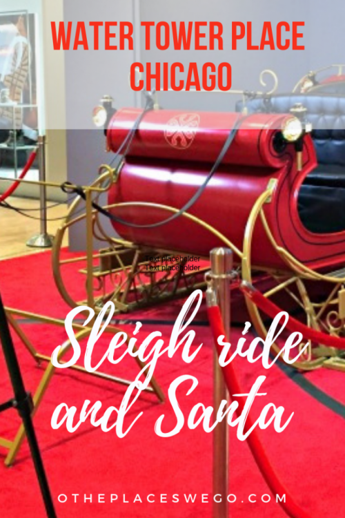 Go on a virtual sleigh ride and see Santa at Water Tower Place Chicago