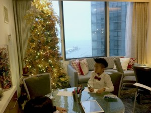 A wonderful experience visiting Santa at Swissotel's Santa Suite in Chicago.