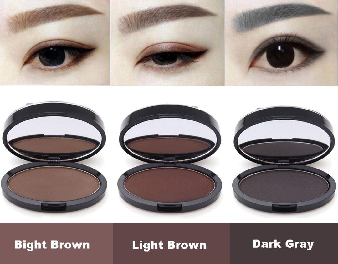 Makeup Eyebrow Gel Brow Stamp Grey Brown Powder Awesome Fashion