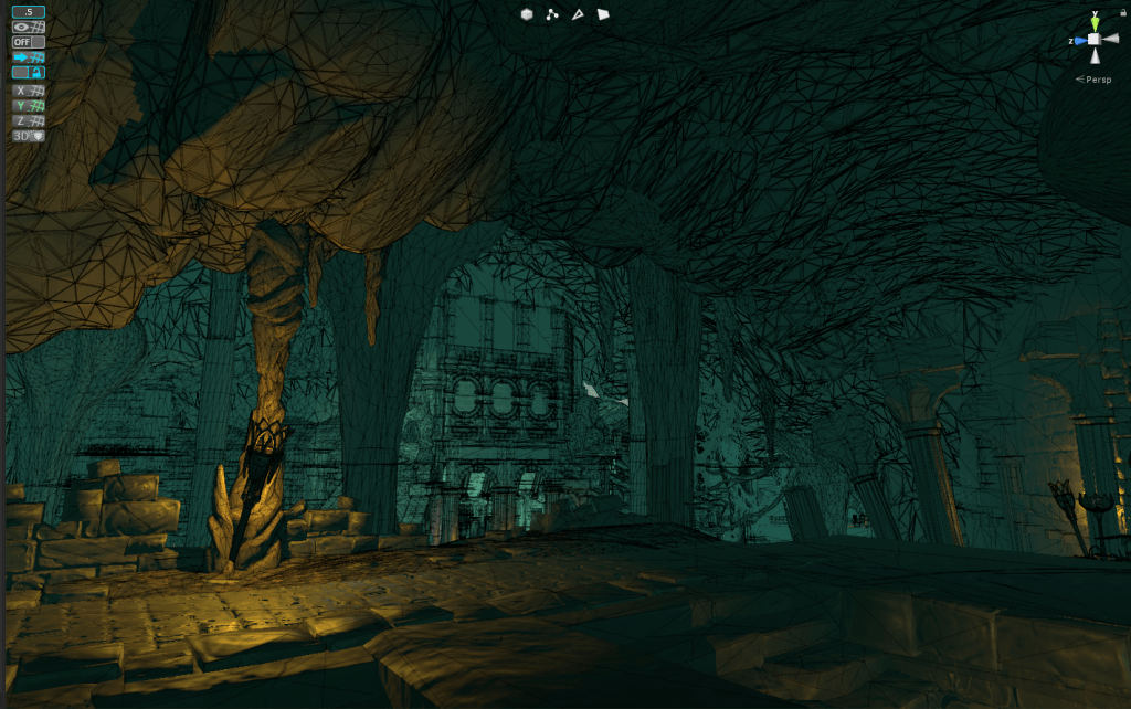 wireframe design level underworld ascendant screenshot