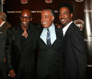 Joe, Reverend Al Sharpton and Chris Rock