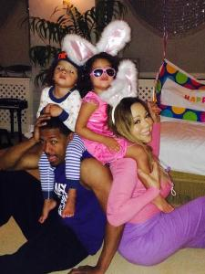 Mariah and family easter 2014