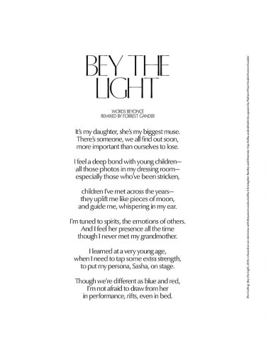 BEYONCE CR FASHION BOOK SPREAD_OTHERSIDE OFTHE FAME_in her words