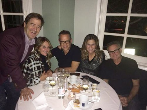 TOM HANKS AND RITA WILSON WITH ROBIN WILLIAMS _OTHER SIDE OF THE FAME