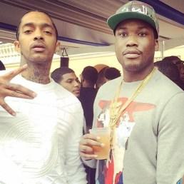 Meek and Nipsey Roc Nation brunch