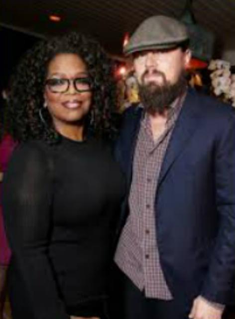 Oprah and Leonardo DiCaprio
