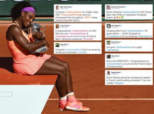 Serenas Congrats from greats