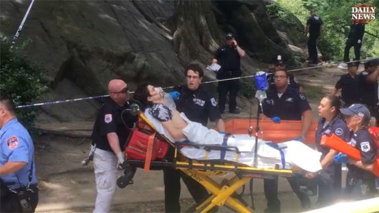 Central Park New York man loses foot steps on homeade bomb