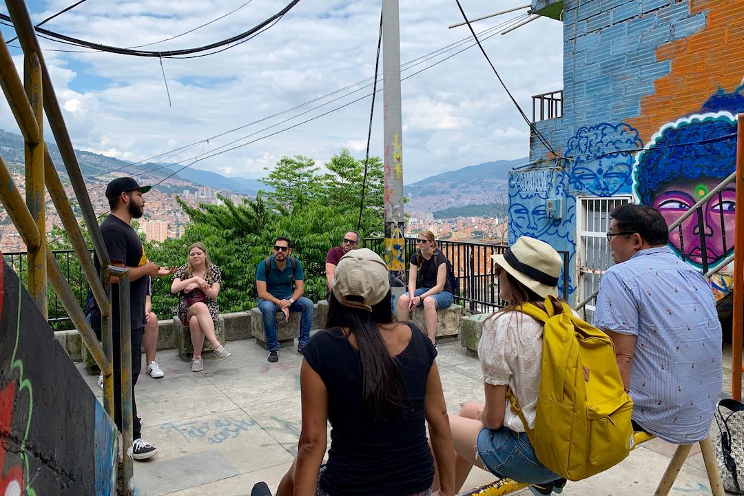 Learning the stories of Comuna 13, Medellin