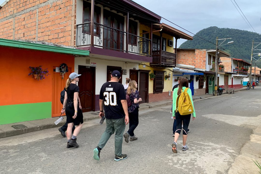 Wandering the streets of Jardin, Colombia