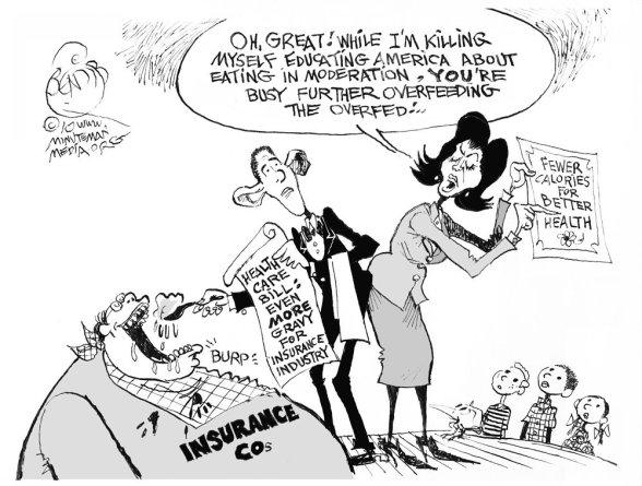 Obama and Obesity cartoon