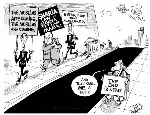 Islamophobic Contest cartoon