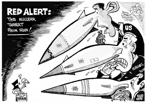 Nuclear Alert cartoon