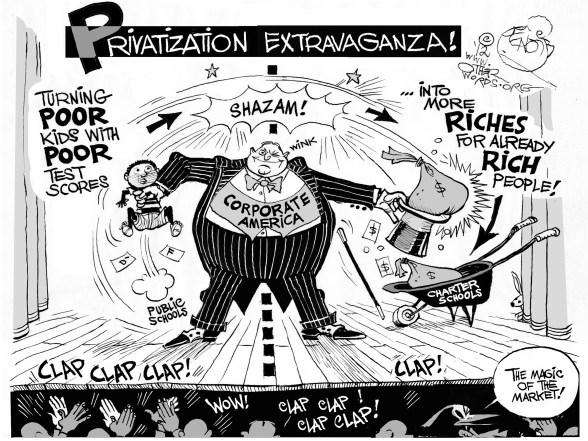 privatizing public schools testing not helping