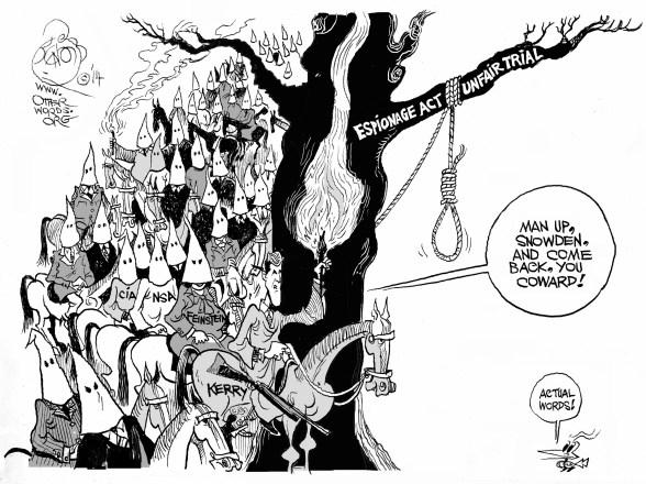 The Manning Up Problem, an  OtherWords cartoon by Khalil Bendib