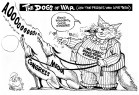 The Military Fat-Cat Complex, an OtherWords cartoon by Khalil Bendib