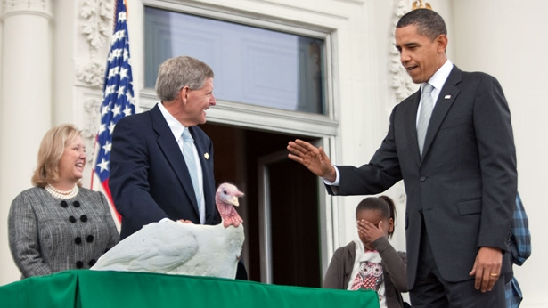 Obama Pardons Two Republican Turkeys