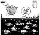 Iran returns to the global oil market, an OtherWords cartoon by Khalil Bendib.