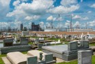 A cemetery in Taft, Louisiana, in the shadow of a petrochemical plant.