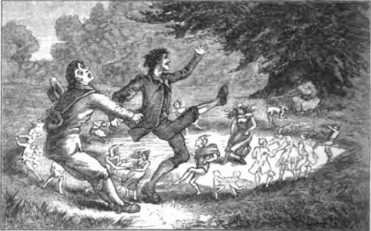 People being caught in a fairy ring. Are fairies real?