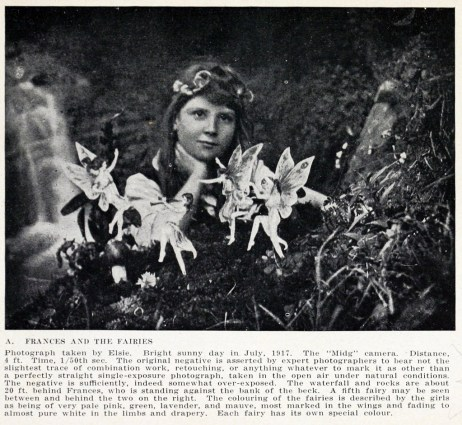 Not a real fairy picture but the little girl here believed strongly in the fairies